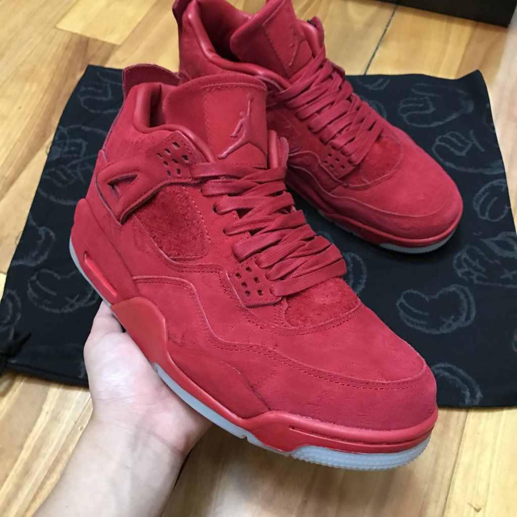 9d5eaf730cc100 Jordan 4 Retro Kaws Red 930155-609