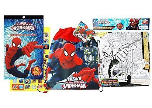 Spiderman Toys Bundle Pack Includes Sticker Pack Coloring Puzzle With 4 Crayons And Non Woven Sling Backpack Check Out This Gre Color Puzzle Spiderman Toys
