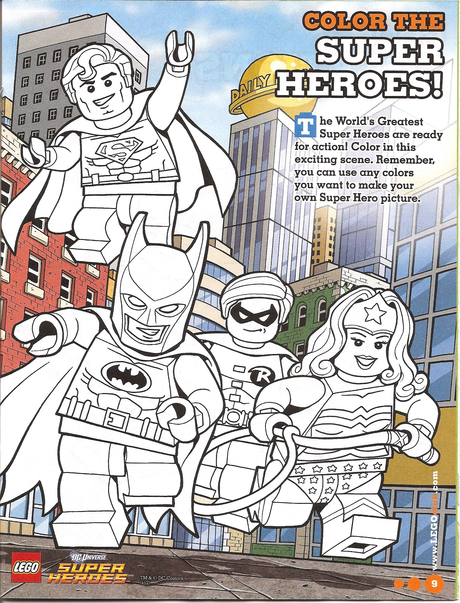 Go Adventure Mom Lego Super Heros Coloring Page Free Printable - Go ...