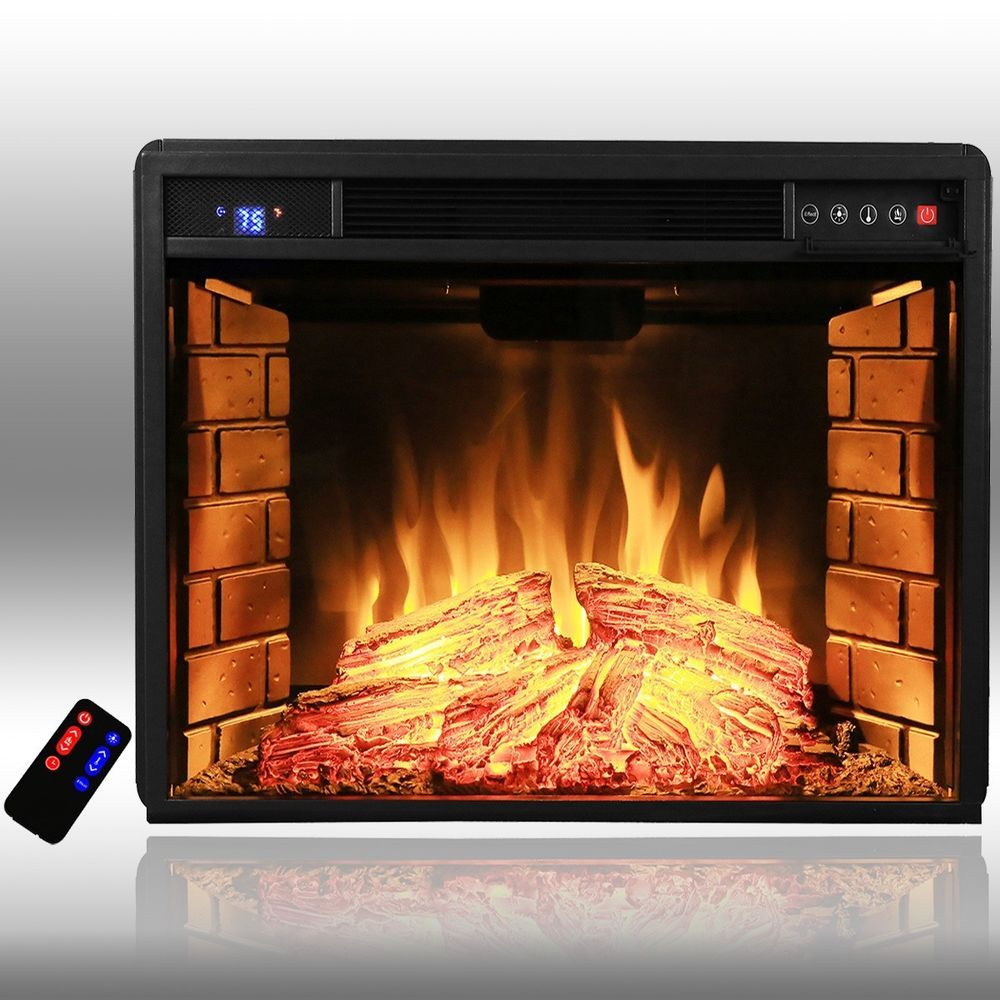 "AKDY AFPEF0528 28"" Insert Freestanding Electric Fireplace"