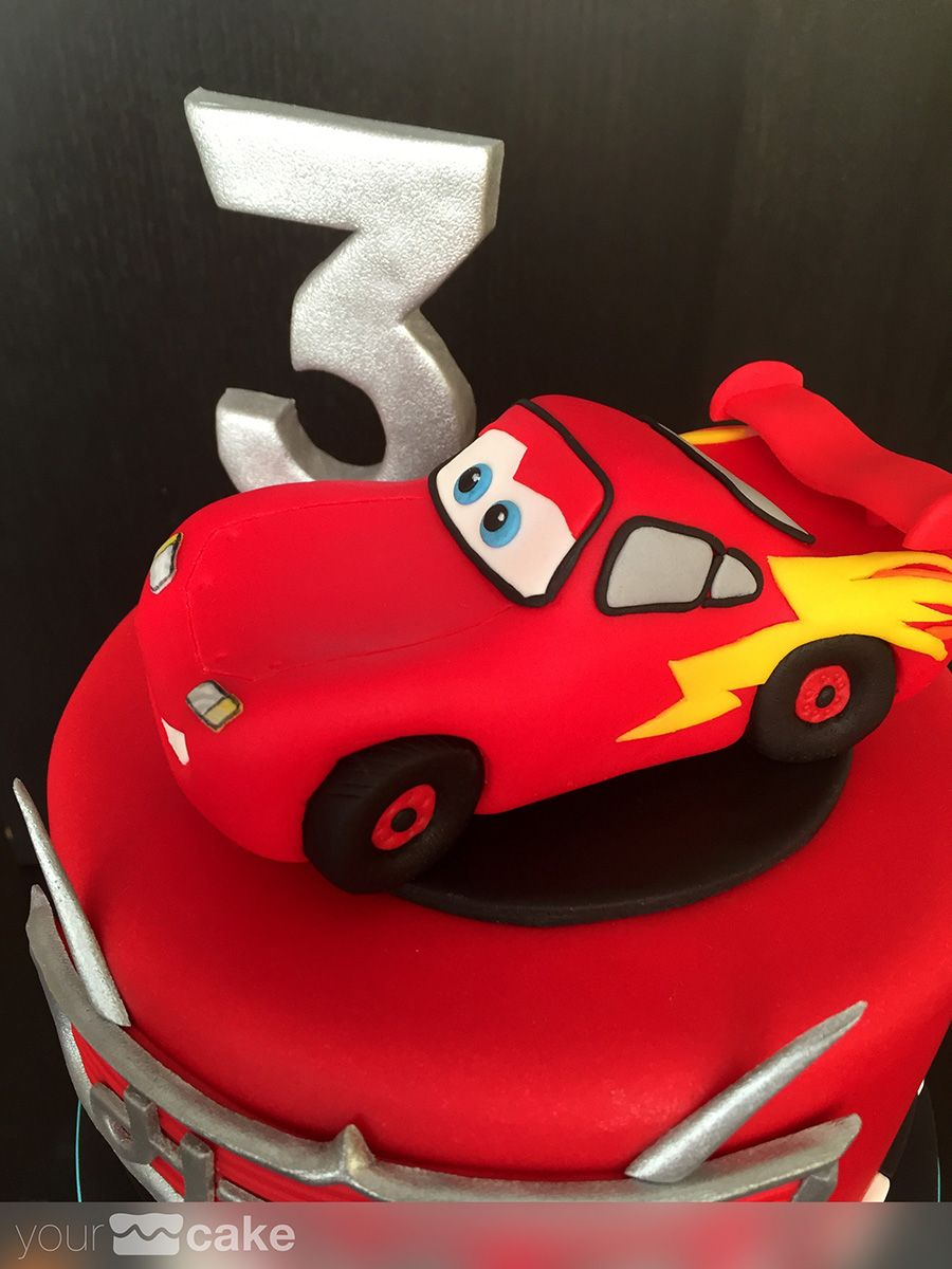 Your Cake Tarta Rayo McQueen Cars Happy Birthday Pinterest