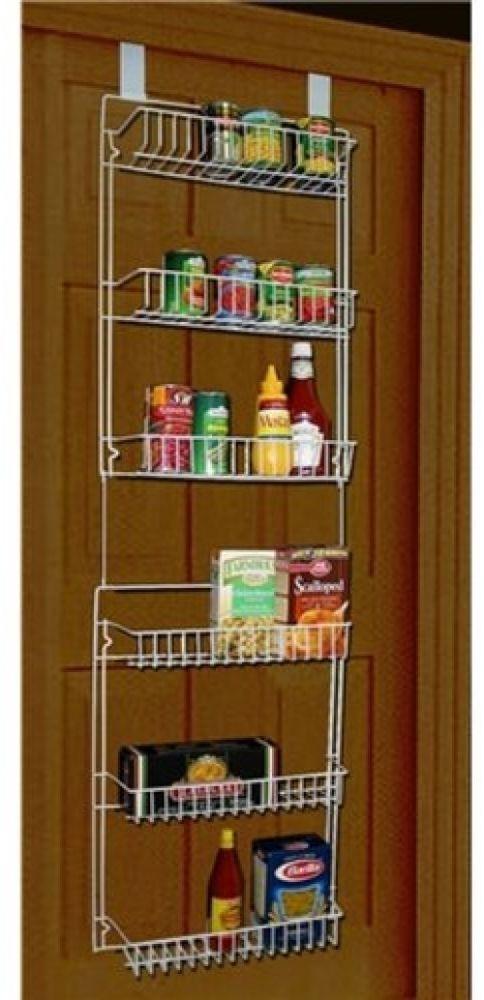 Pantry Storage Rack Over The Door Metal Rack Shelf Shelves Multi Use