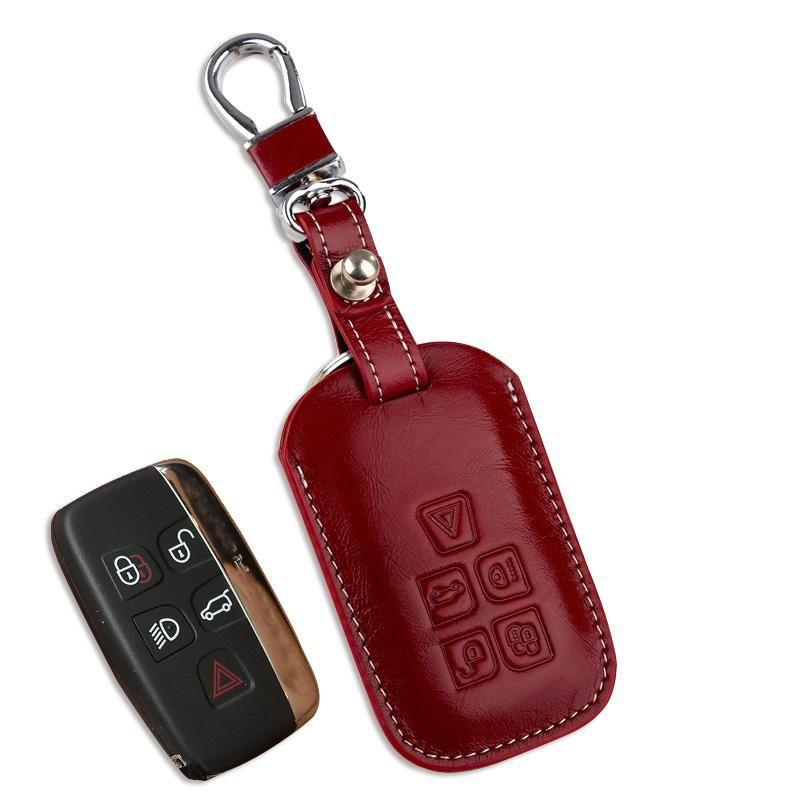 Leather Car Key Fob Holder Case For Jaguar Xf 2015 Xe Xj 2016 2017