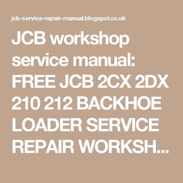 Jcb drill manual array jcb workshop service manual free jcb 2cx 2dx 210 212 backhoe loader rh pinterest fandeluxe Images