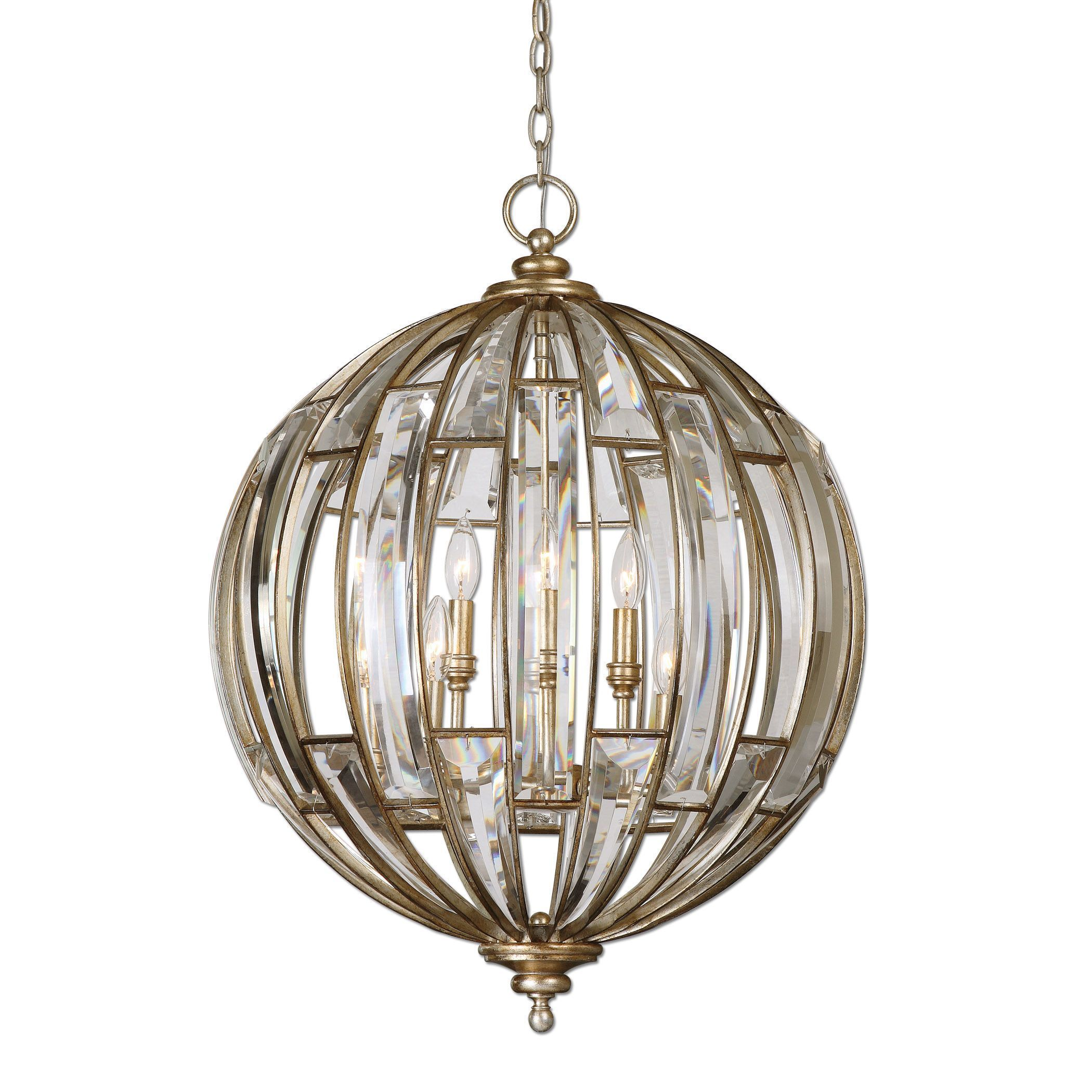 A Statement Of Sumptuous Elegance A Sphere Of Beveled Crystals