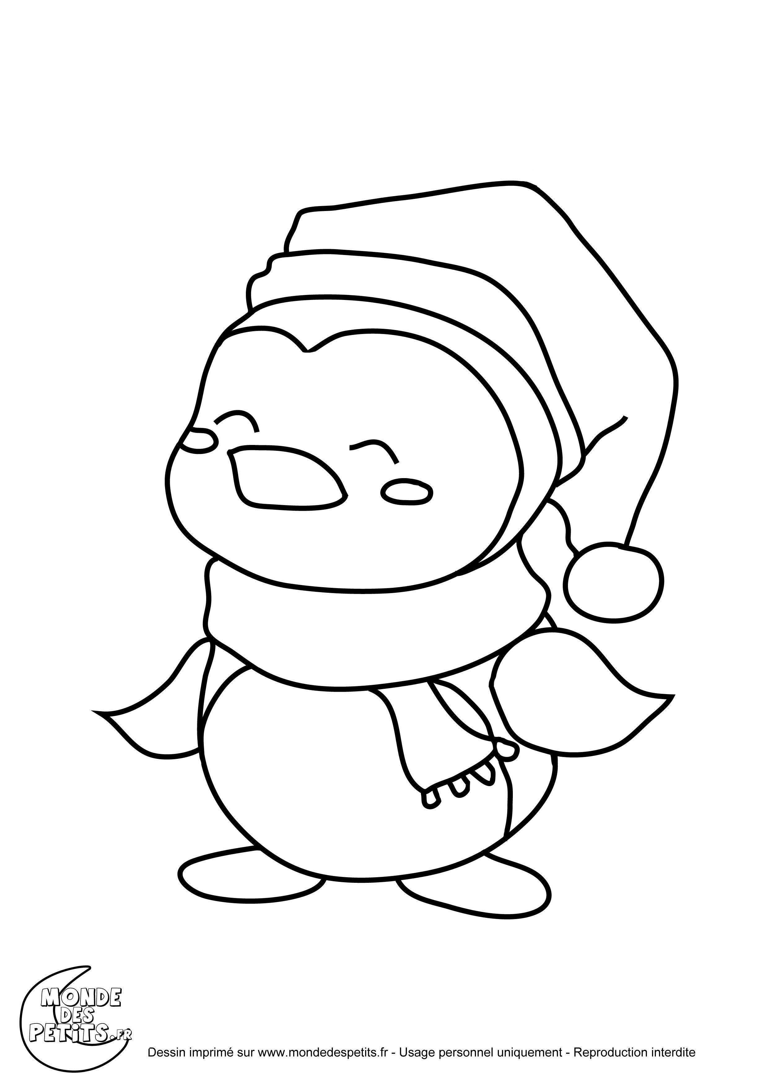 coloriage noel pingouin imprimer. 2.480×3.508 Pixel | Christmas
