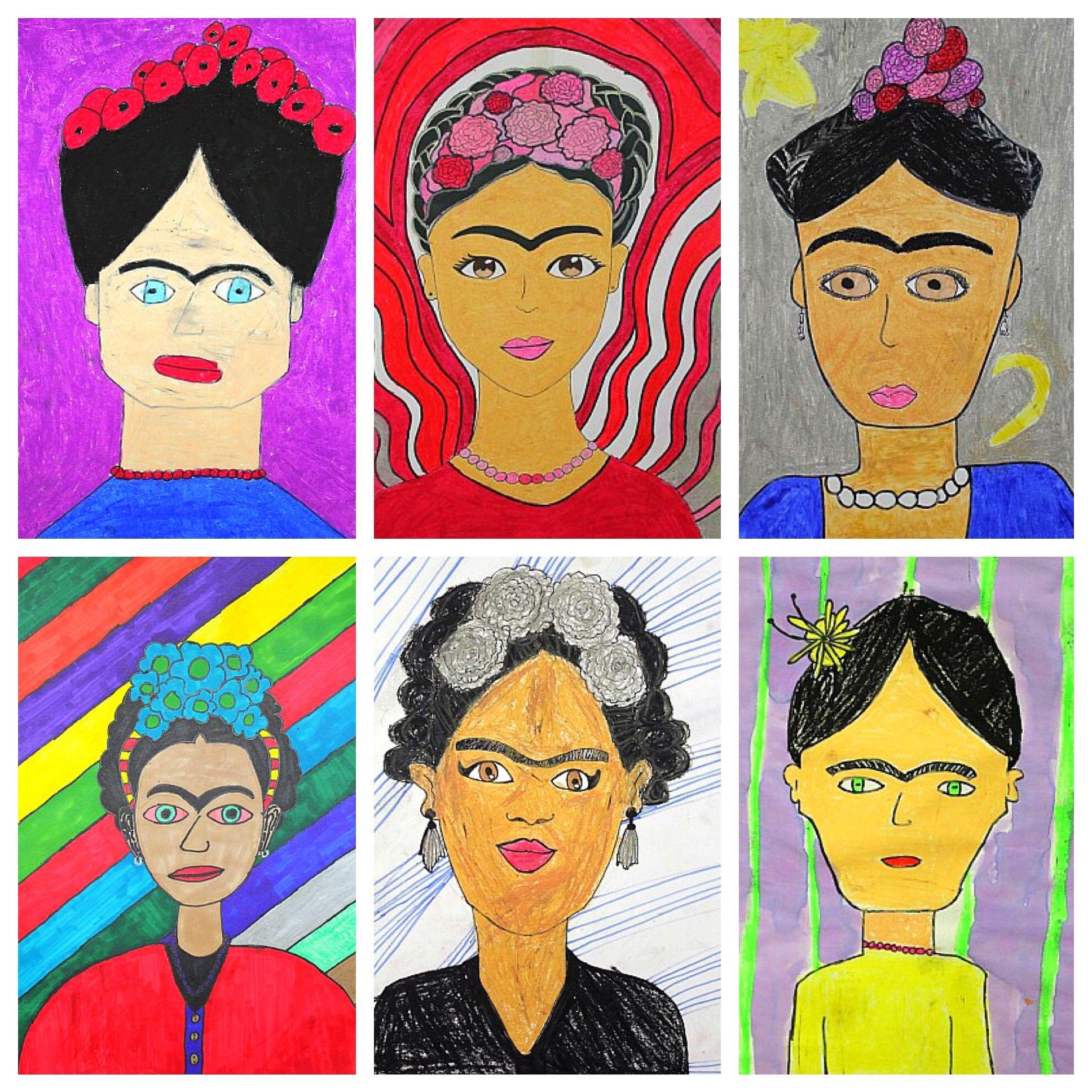 Fabulously Frida...Frida Kahlo that is! | Pinterest | Schule, Kunst ...