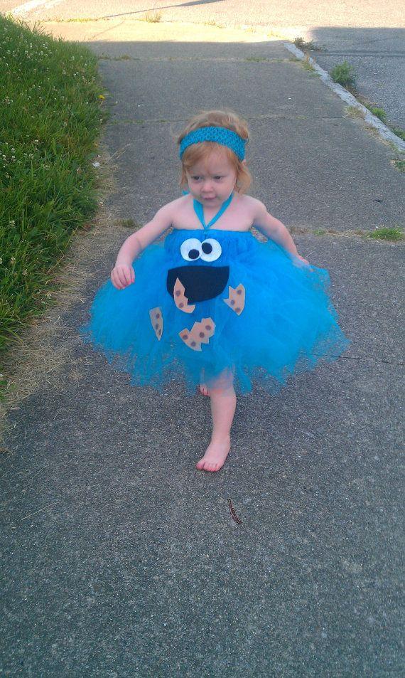 Cookie Monster Tutu Dress by gingerbreadstudios on Etsy, $4500 - halloween tutu ideas