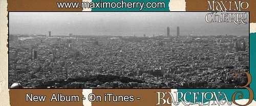 Barcelona Landscape - Barcelona 3 Postcard #montjuic #tibidabo #spain #espana #panorama #view