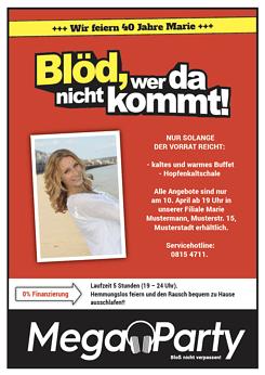 Druckvorlage U0027Blöd Wer Da Nicht Kommt!u0027 Bei Wunschblatt Selber Gestalten  Und Drucken