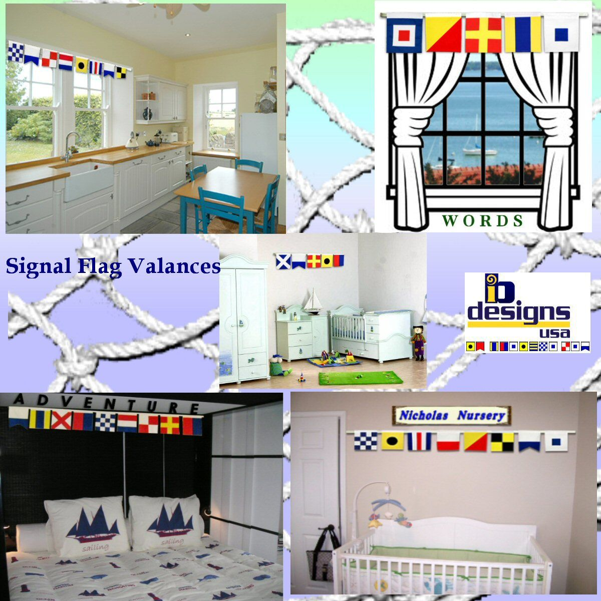 Signal Flag Valances For The Nautical Home