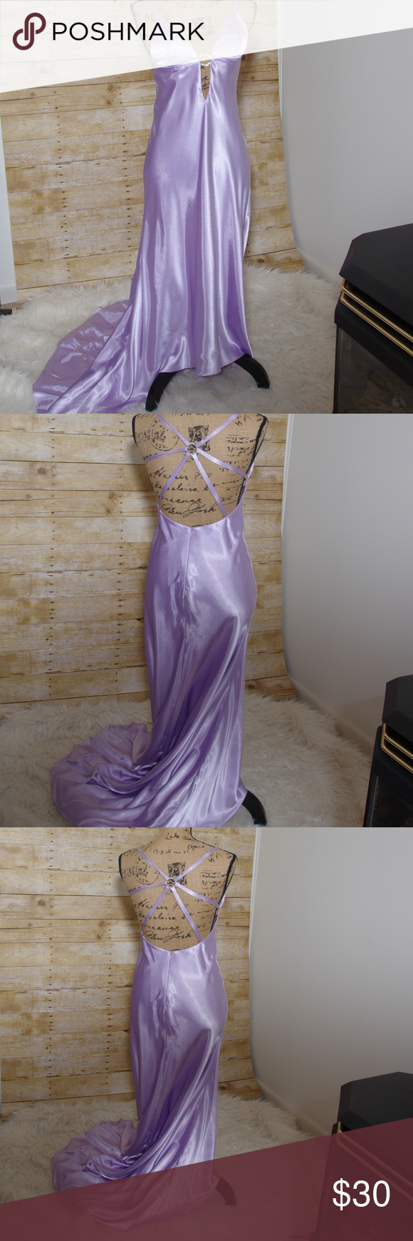 Faviana new york lavender prom dress my posh closet