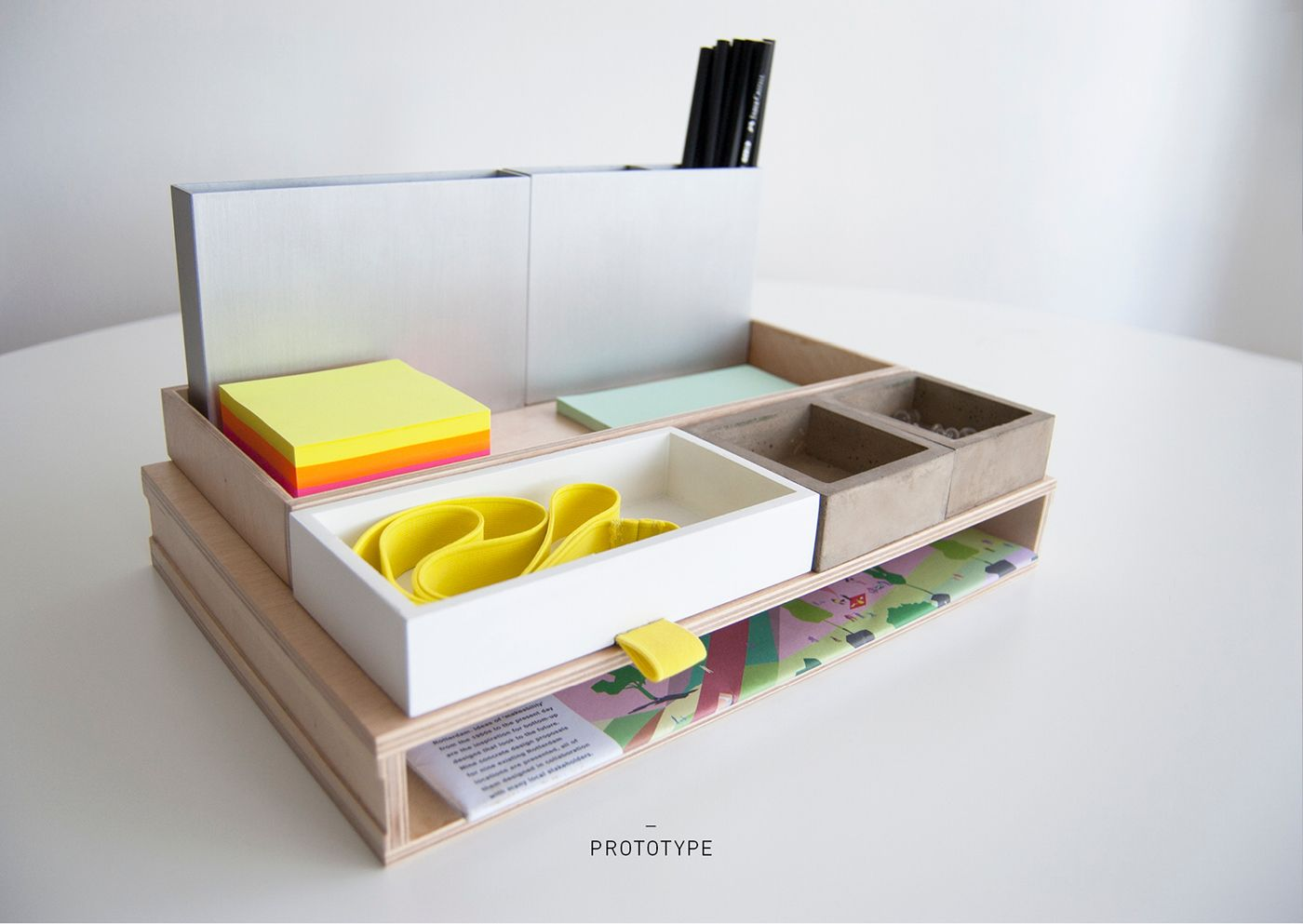 desk naturally is sourced reclaimed organizer set made uplift from the teak