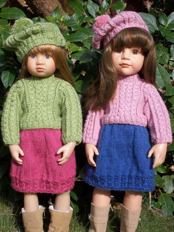 Shetland Lass pdf doll clothes knitting pattern for 18\