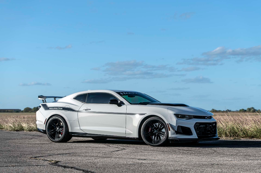 The 1 200 Hp 200 000 Hennessey Resurrection Chevy Camaro Zl1 1le