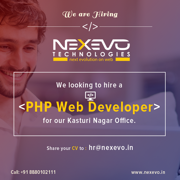Job Openings for Experienced PHP Developer Bangalore We