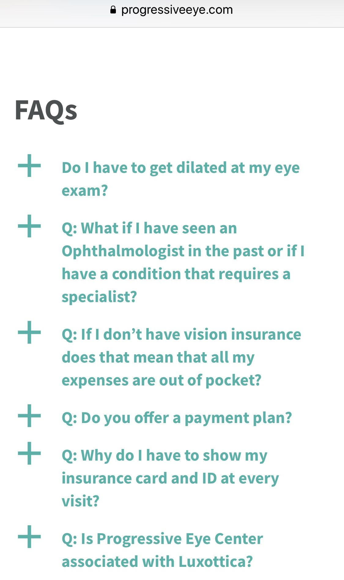 View Our List Of Faqs Progressiveeye Progressiveeyecenter