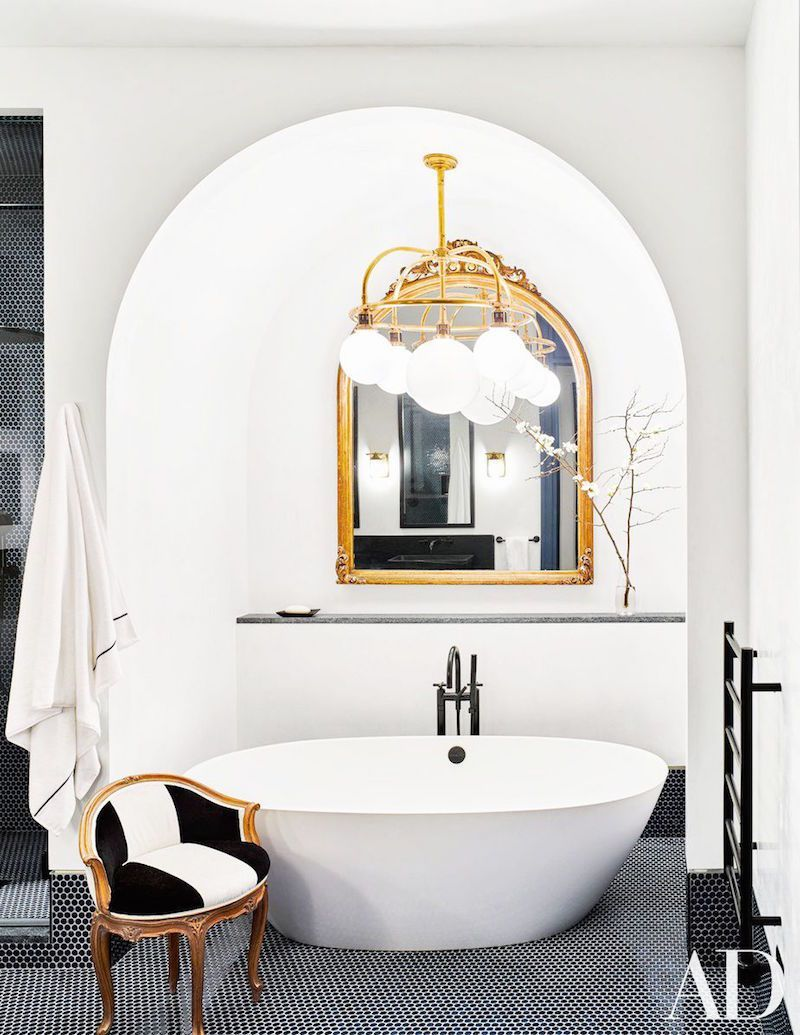 Penny Round Tiles | Pinterest | Architectural digest, Manhattan and ...