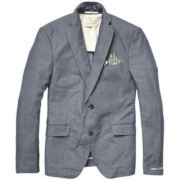 Scotch & Soda Chic Two Buttoned City Blazer ($220) ❤ liked on Polyvore