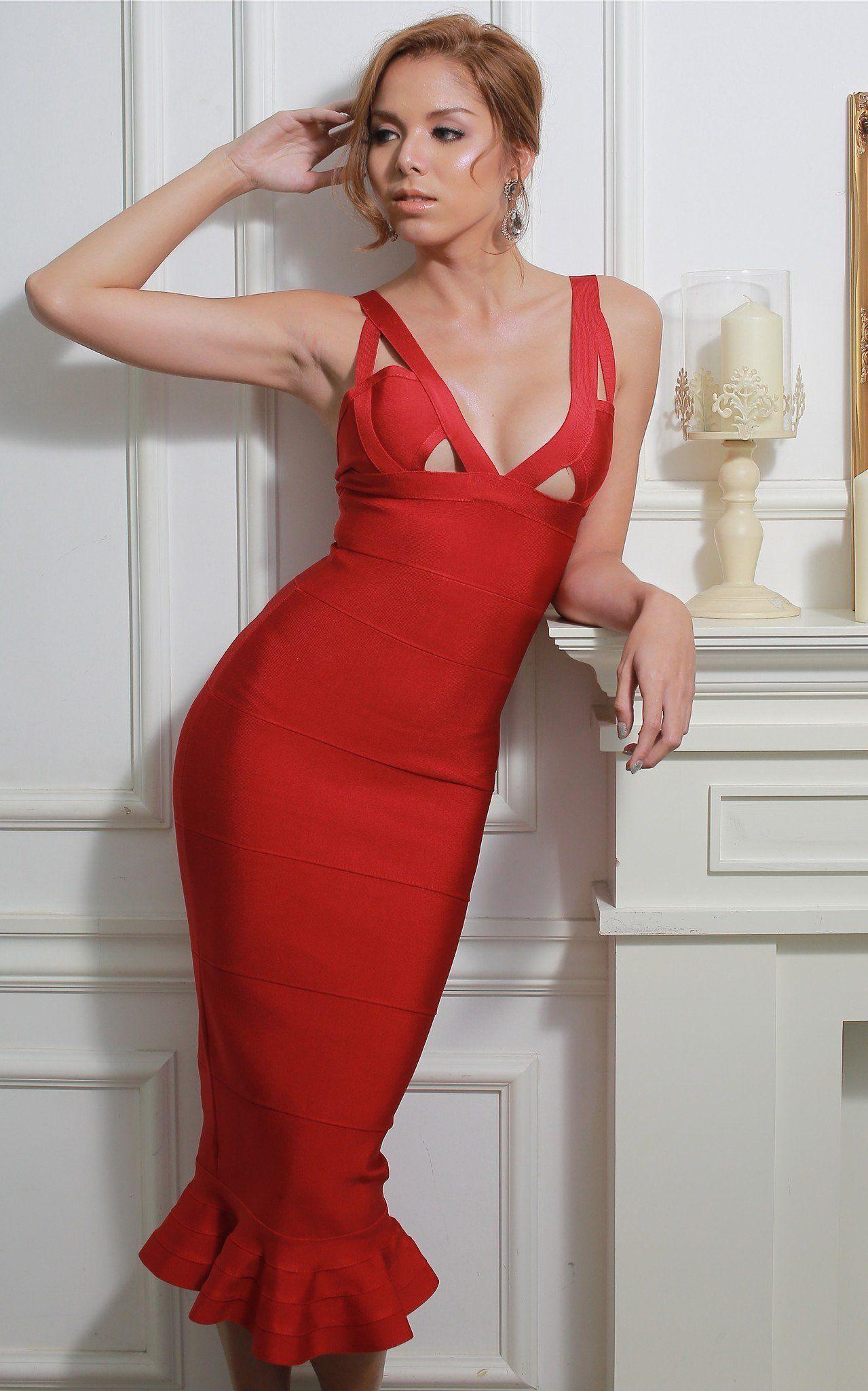 Bolero Scalloped Two Piece Bandage Dress | The Kewl Shop