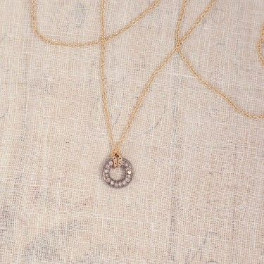 Diamond Circle Necklace Sentimental Jewelry Three Sisters