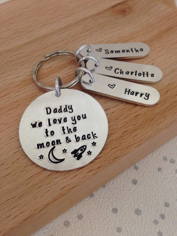 Personalised Keyring Keychain Gifts For Dad Husband By