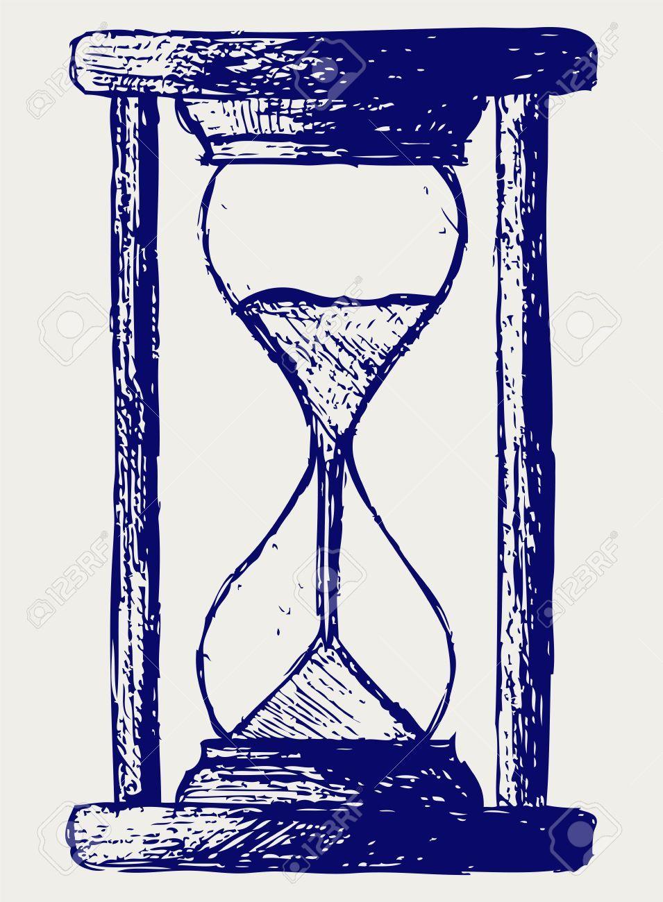 Stock Photo Tatuaje Reloj De Arena Reloj De Arena Reloj De