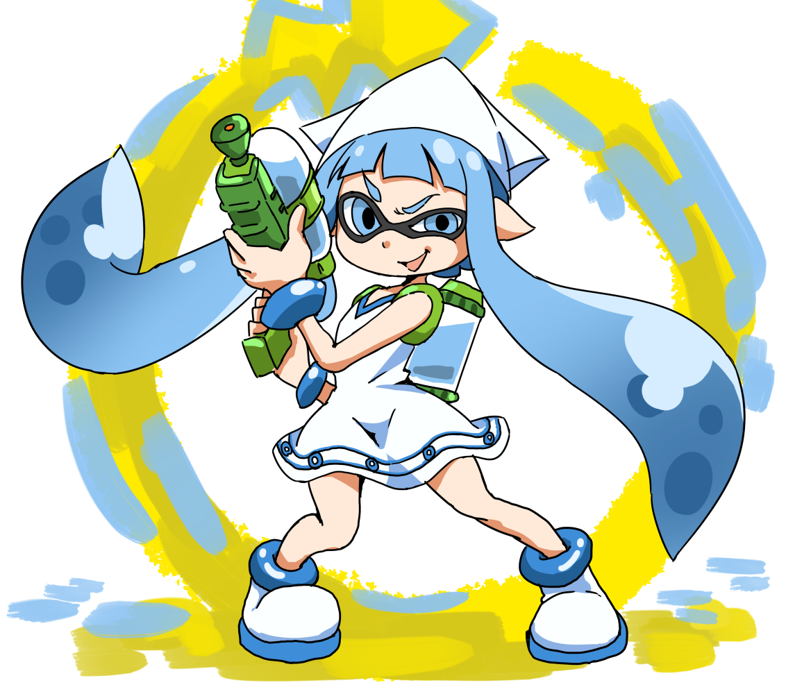 splatoon fan art from the creator of squid girl extra space