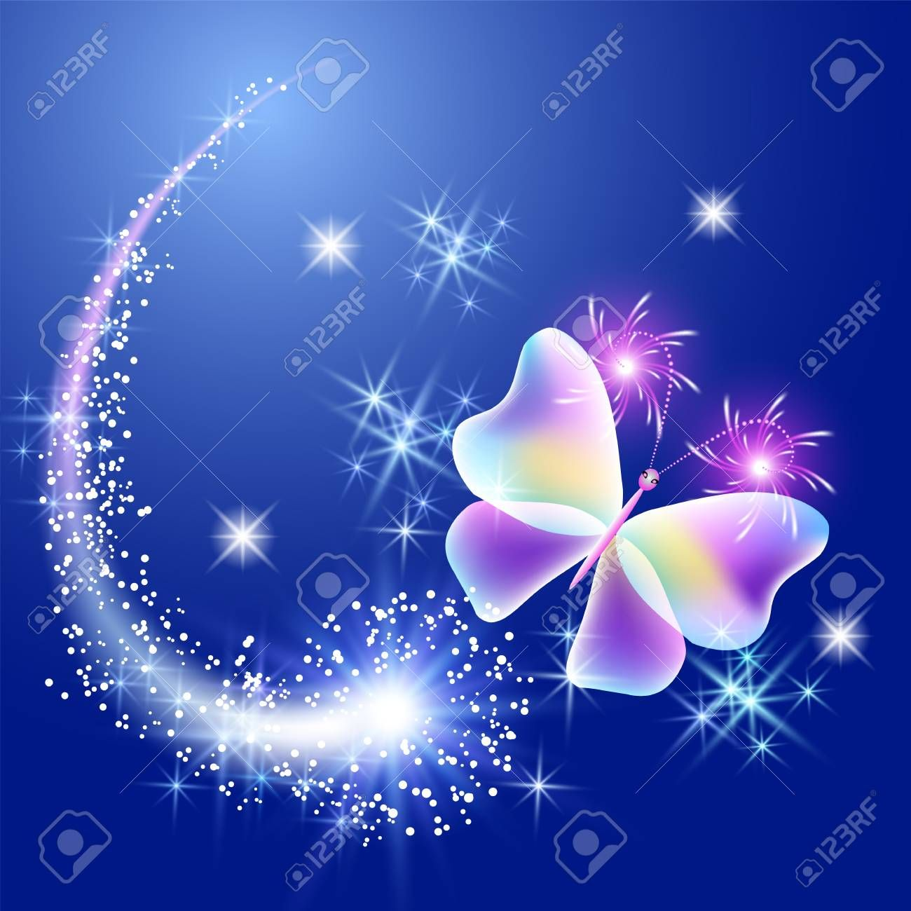 Transparent Butterfly With Glowing Stars Illustration Ad Butterfly Transparent Glowing Illustrat Star Illustration Illustration