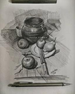 رسومات للفنانة العراقية عذراء عباس الخزعلي رسم الرصاص Drawing Pencil Painting Art