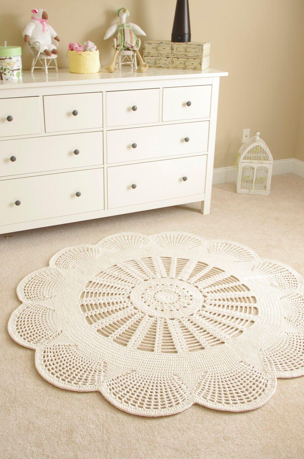 Emily Mega Doily Rug Is Here And Gone Again Crochet Carpet Crochet Home Doily Rug