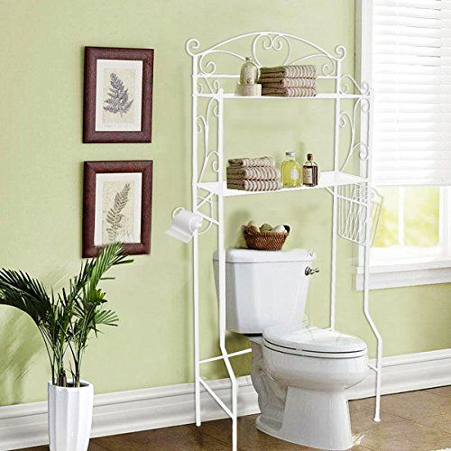 Vdomus Bathroom E Saver Storage Over The Toilet Wire Shelf Shelves White Undefined