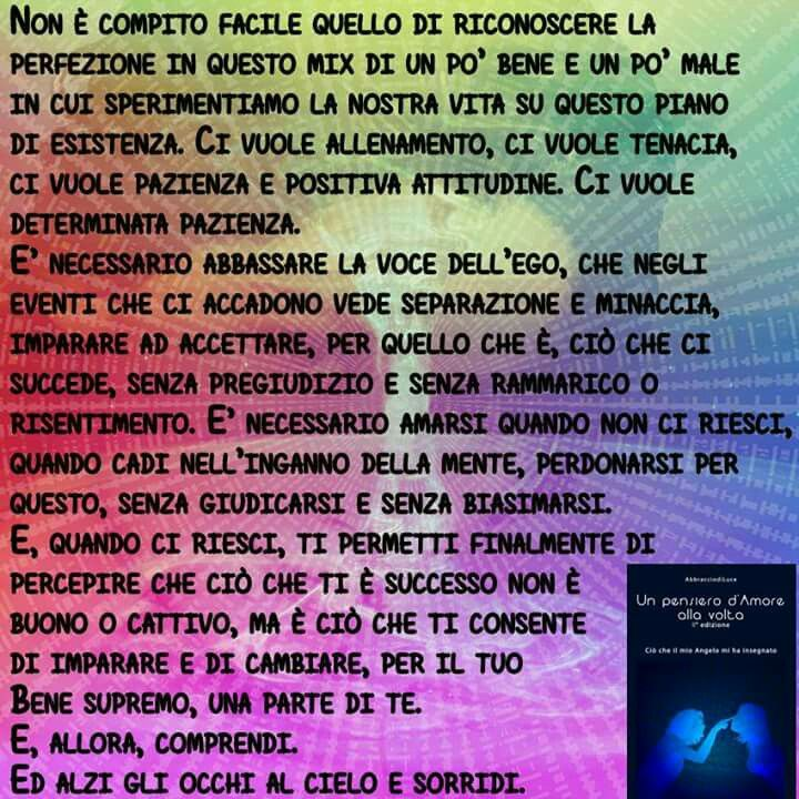 "Il pensiero del 20 Gennaio 2016 dal libro ""Un pensiero d'Amore alla volta"". www.unpensierodamoreallavolta.it"