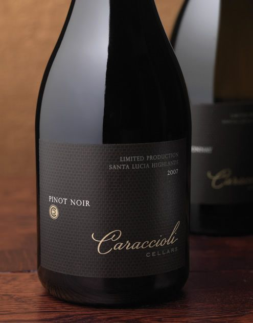 Caraccioli Cellars Wine Caraccioli Cellars Wine Label & Package Design Santa Lucia Highlands Caraccioli Cellars, Carmel - CA on the #CarmelWineWalk