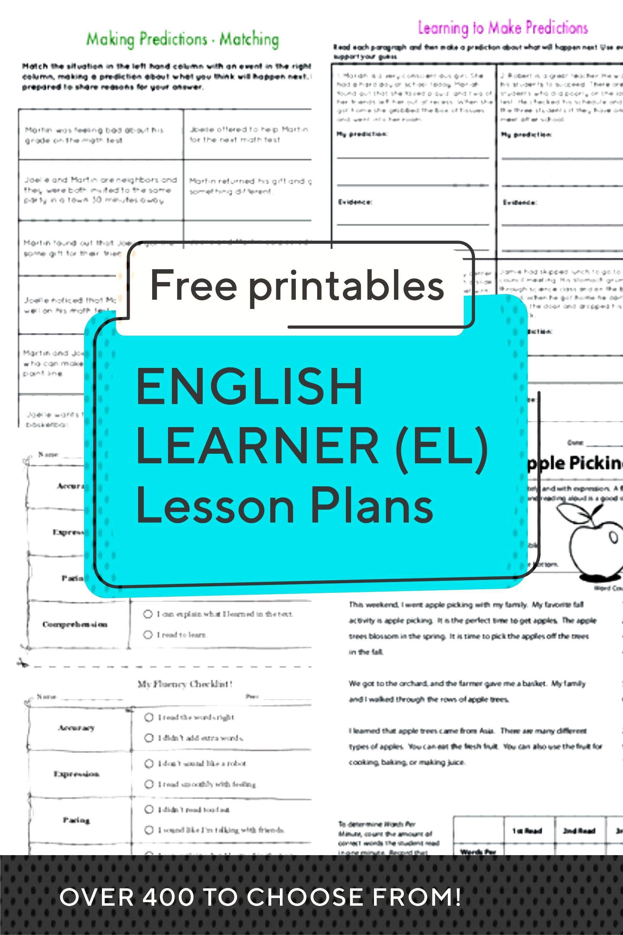 English Learner (EL) Lesson Plans | Access more than 400 lesson plans for preschool through grade 5