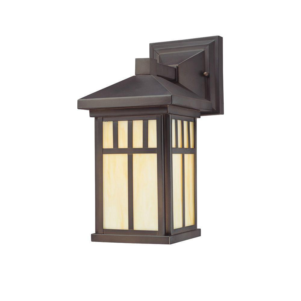 Westinghouse Burnham 1 Light Oil Rubbed Bronze Outdoor Wall Mount Lantern Sconce 6732800 The Home Depot Bronze Outdoor Lighting Outdoor Wall Lantern Porch Light Fixtures