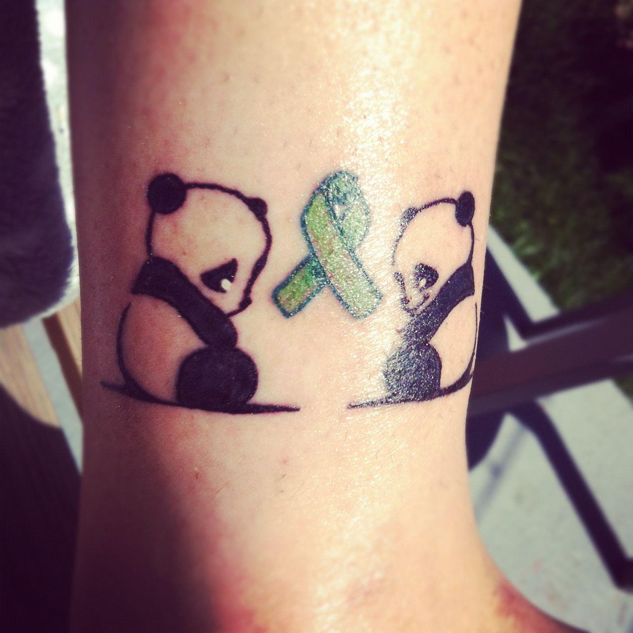 Happy Panda Sad Tattoo Mental Health Awareness Bipolar