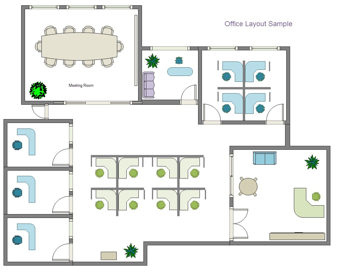 With Edraw Office Layout Software You Can Draw An Effective Office Layout Which Will Provide Employees With Office Floor Plan Office Layout Office Layout Plan