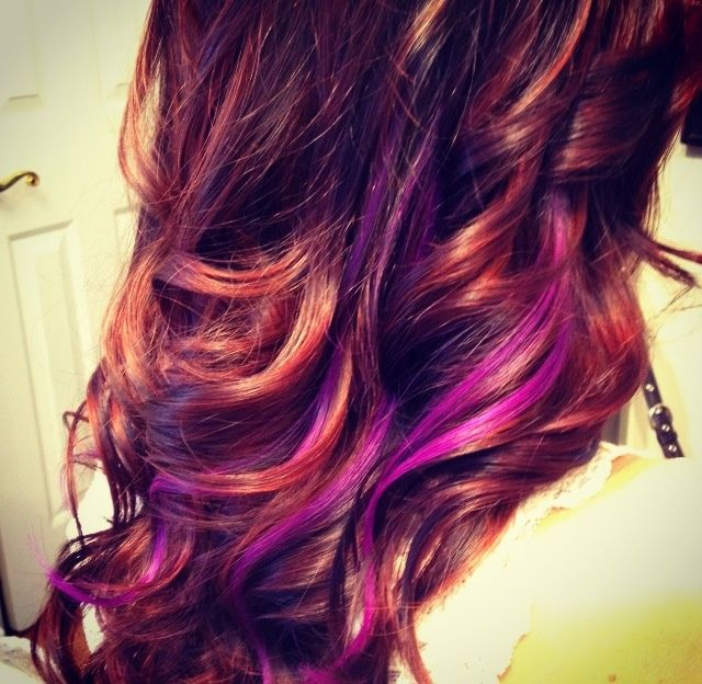 Copper And Purple Lavender Hair Colors Purple Hair Sunset Hair