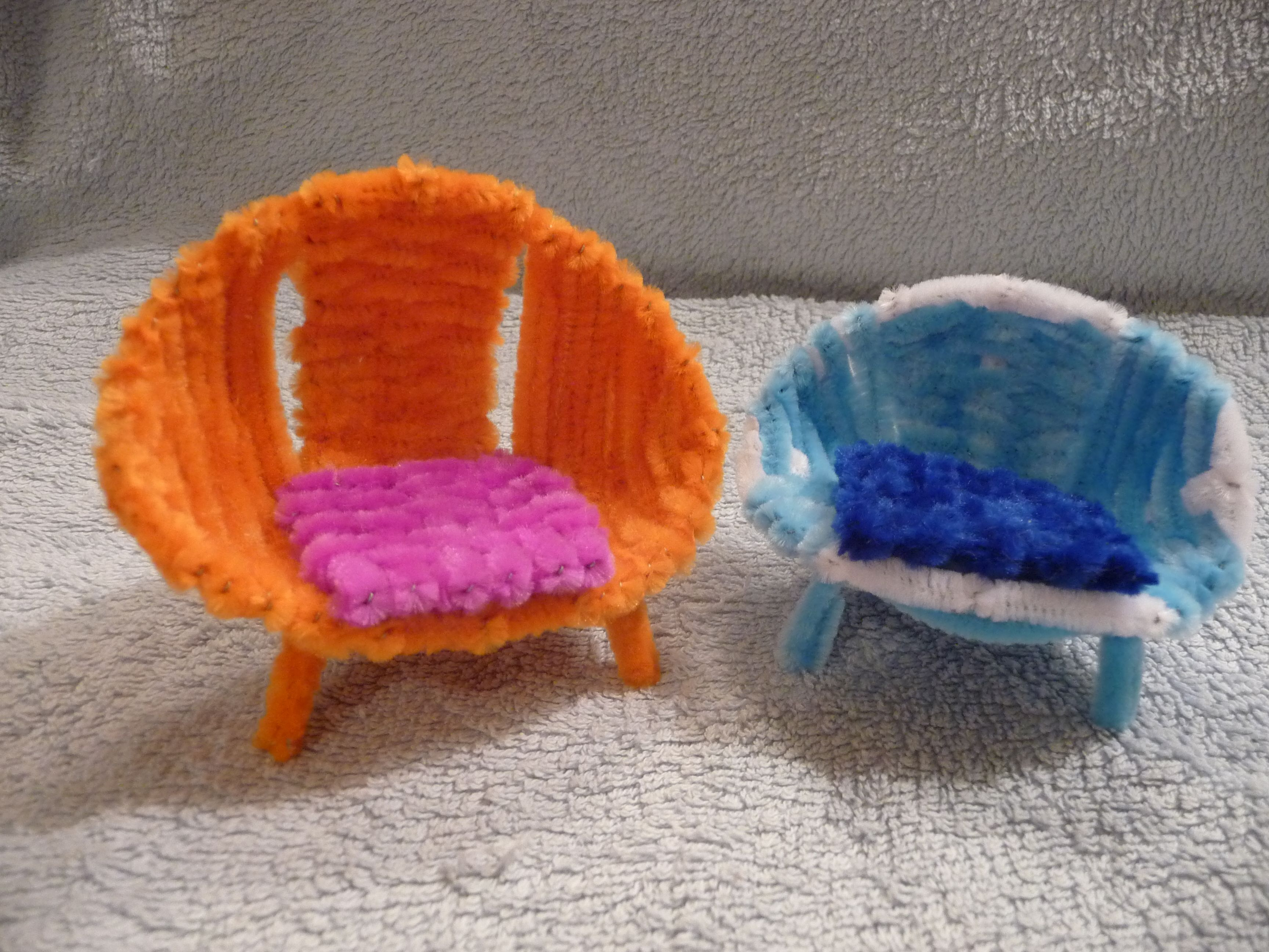 Diy mushroom chair - Pipe Cleaner Crafts Pipe Cleaner Chairs