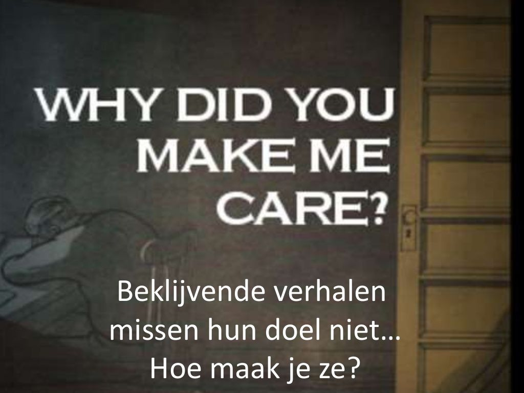 Publiek15. Why did you make me care? Guido Everaert by Publiek Centraal  via slideshare