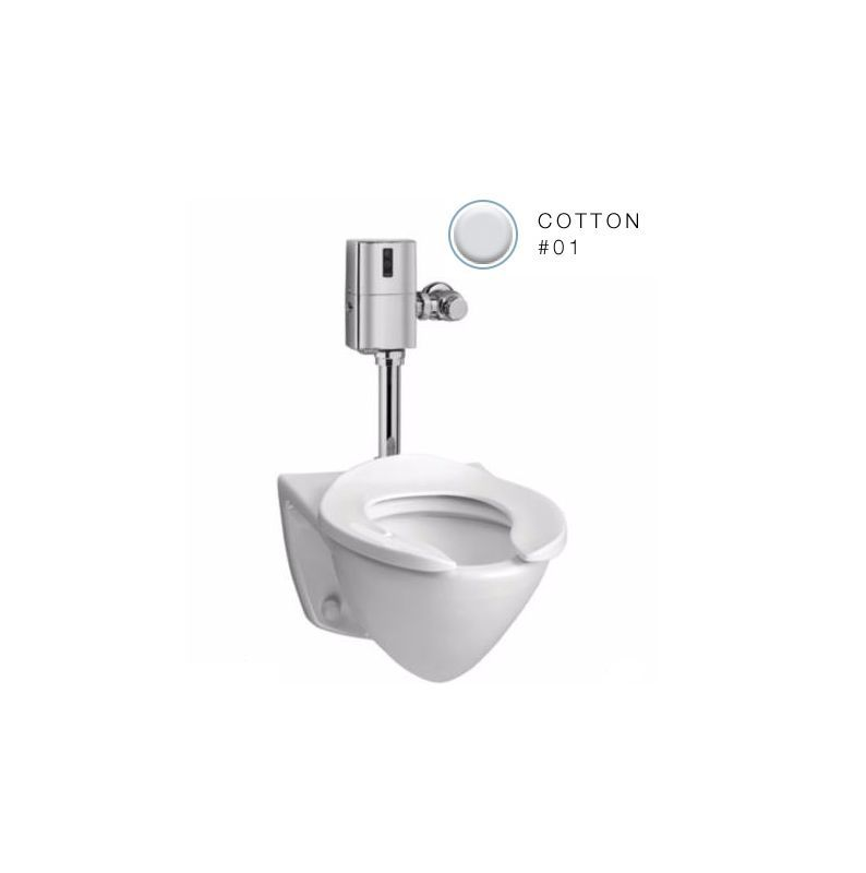 Toto Ct708eg Commercial One Piece Elongated 1 28 Gpf Wall Mounted Toilet With Si Cotton Fixture Toilet One Piece E Wall Mounted Toilet Toilet Commercial Toilet