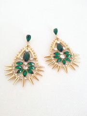 Emerald Tear Drops - The Pink Studs Online Jewelry Boutique