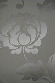 grijs zilver bloemen behang 24 | Woonkamer M6 | Pinterest | Metals ...