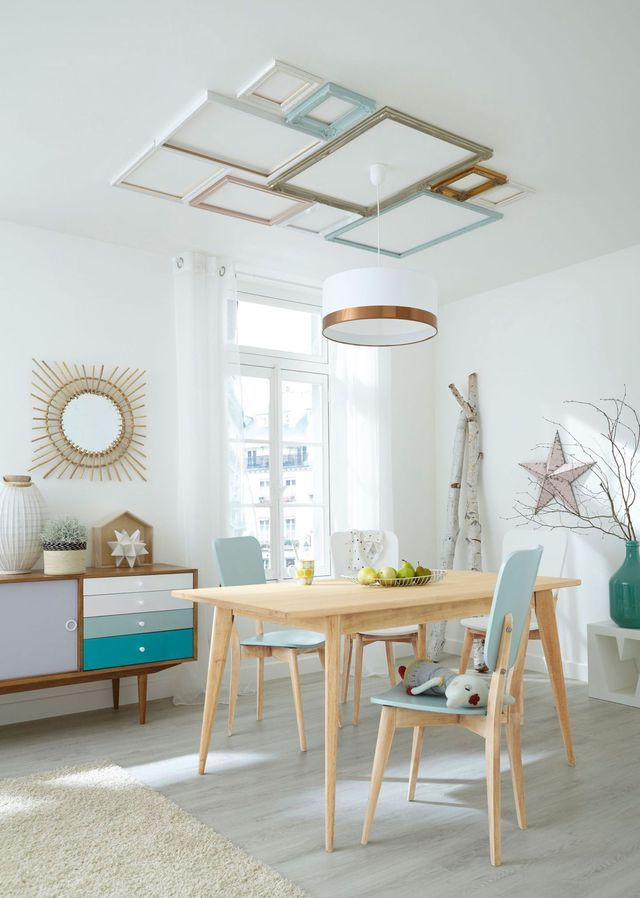 Les couleurs pastel dans la déco Tables en bois, Deco murale et
