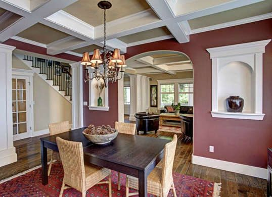 Mauve Or Muted Red Purple In The Dining Room Looks