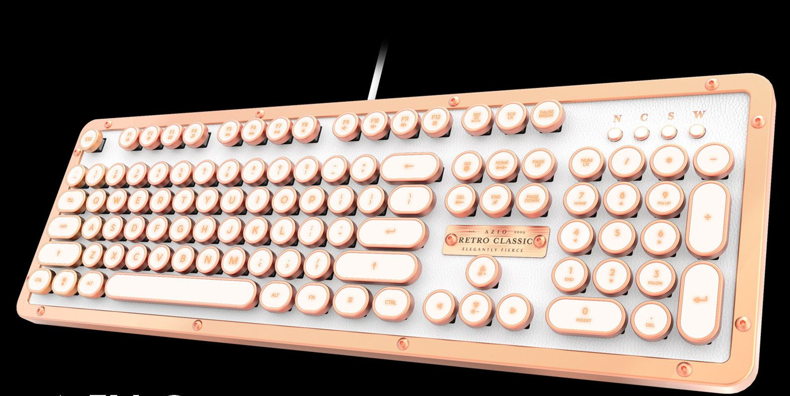 A Retro Keyboard In Bluetooth Or Wired Usb Forms For Macs Or Windows Computers How Beautiful Is This Keyboard Retro Cool Stuff