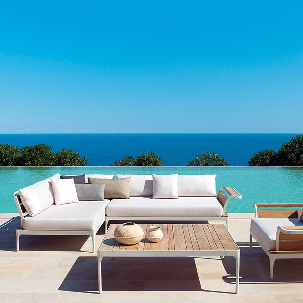 Ethimo Meridien Central Sofa Module Outdoor Settings And Garden