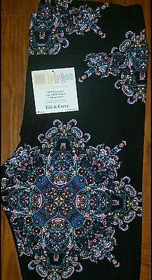 ae9eabca1b2d6 Lularoe TC Tall n Curvy Leggings Yoga Black Pink Blue Purple Unicorn Paisley