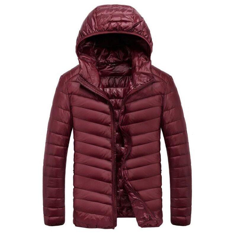 Mens Jackets 90% White Duck Hooded Windbreaker Warm   Price   55.28   FREE f8eae281b